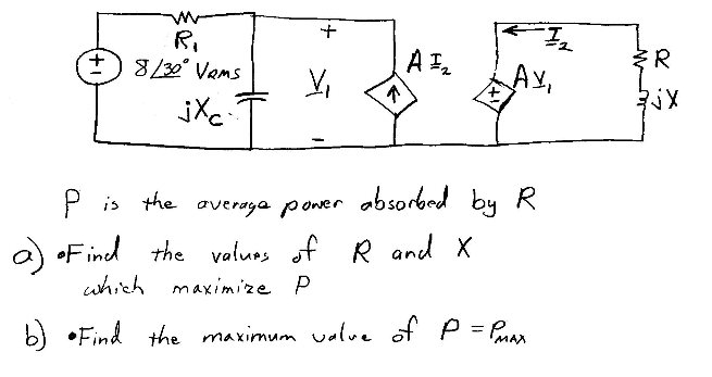 P is the average power absorbed by R Find the val