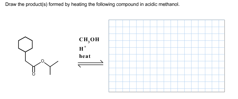Draw the product(s) formed by heating the followin