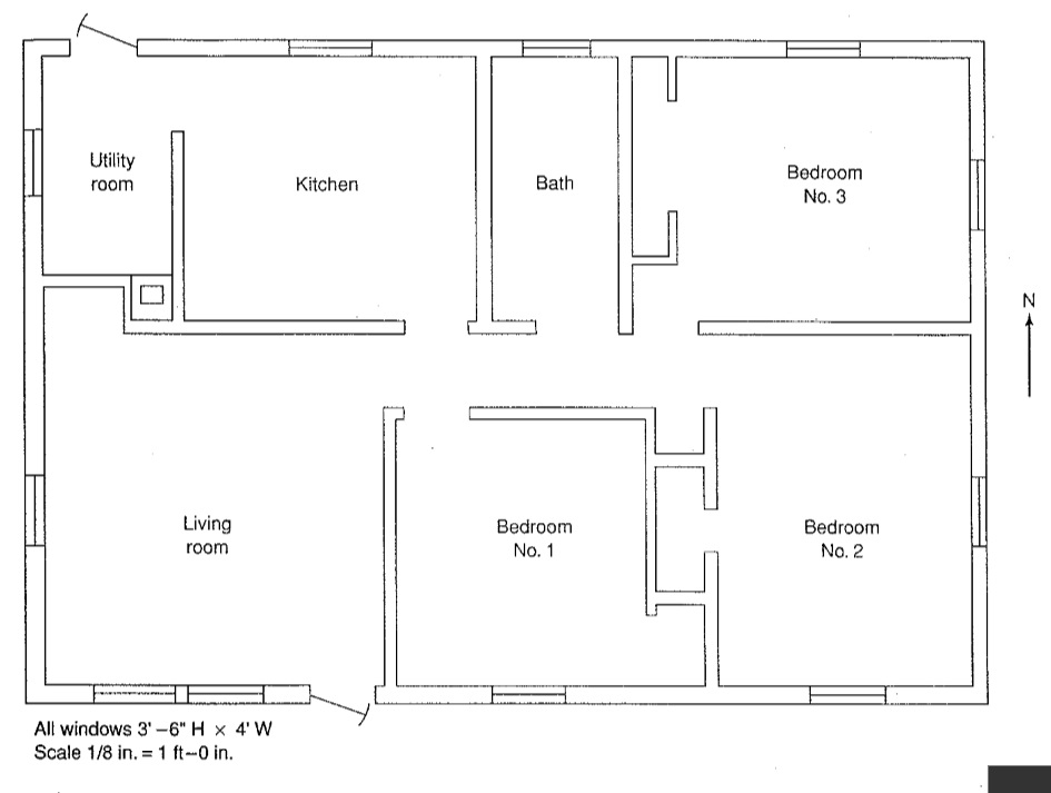 Using the floor plan below calculate the heat los for Scale room planner