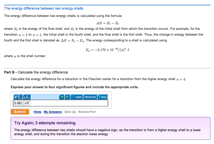 The energy difference between two energy shells T