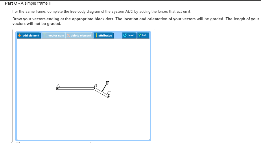 simple black frame png. Show Transcribed Image Text Part C -A Simple Frame II For The Same Frame, Complete Free-body Diagram Of System ABC By Adding Forces That Act On Black Png