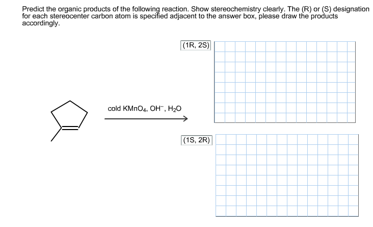 Predict the organic products of the following reac