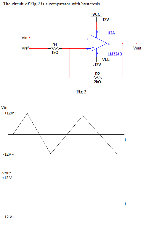 1) Find the upper threshold voltage 2) Find the lo
