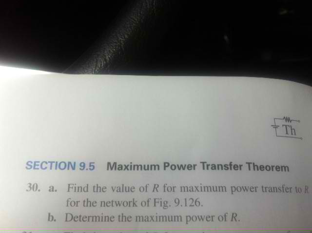 FIG. 9. 126 Find the value of R for maximum power