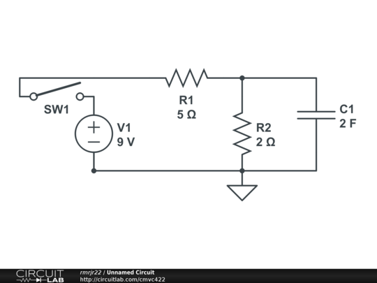 When the circuit reaches steady-state: Determine t