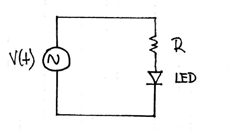 a blue led has a forward voltage drop of 2 5 v  a