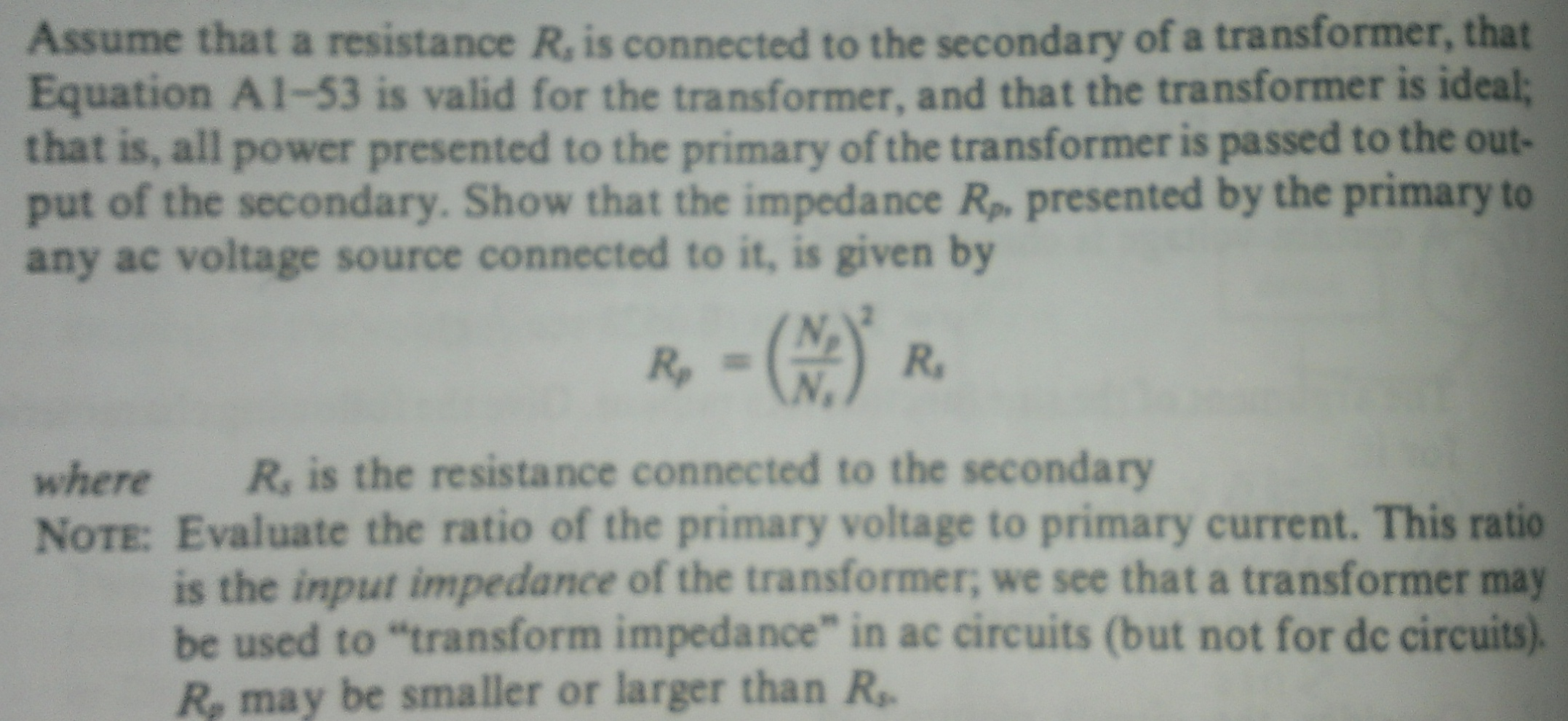 Assume that a resistance R, it connected to the se