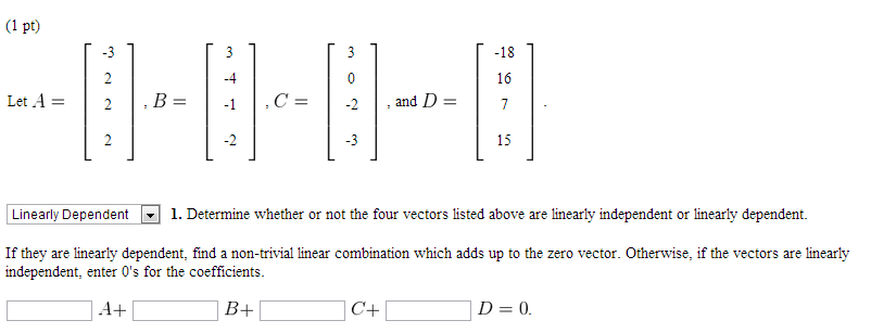 Can two vectors be linearly dependent if they are