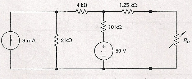 The variable resistor is adjusted for max power tr