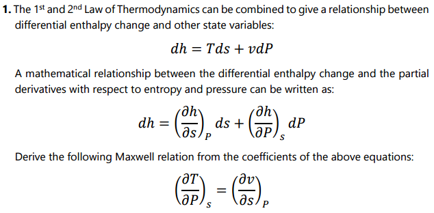 relation b enthalpy and entropy relationship