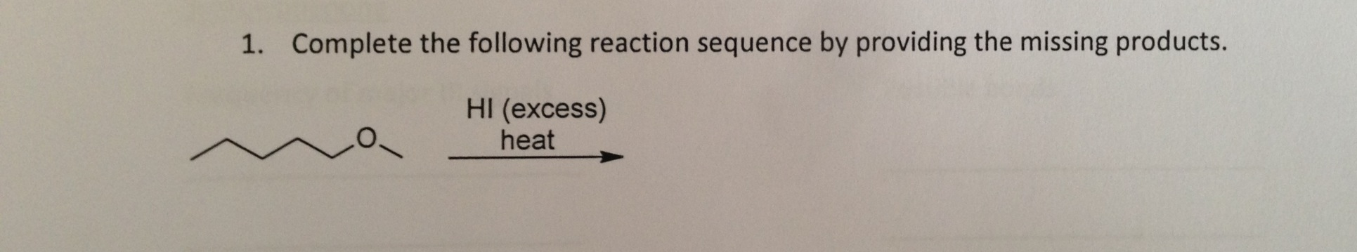 Complete the following reaction sequence by provid