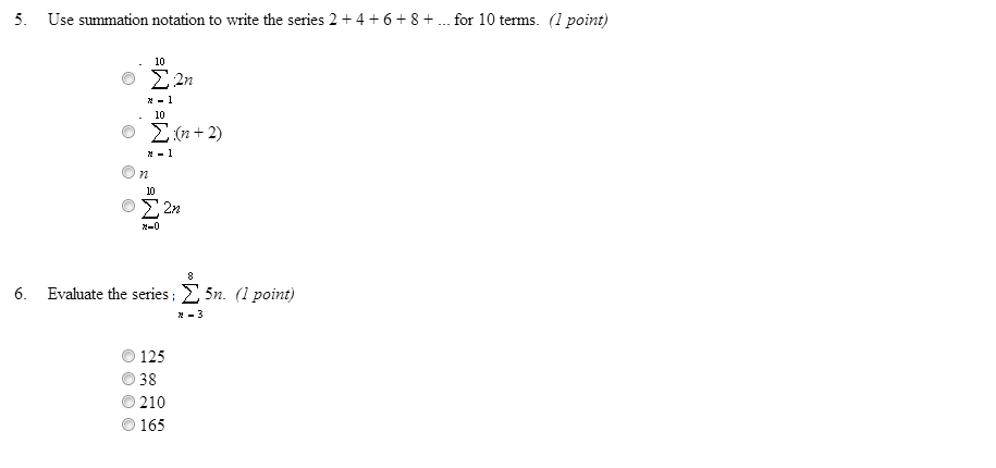 Use summation notation to write the series 2 + 4 +