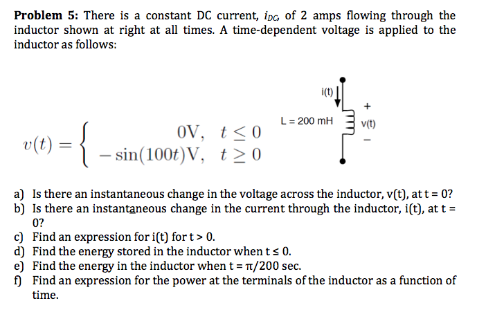 There is a constant DC current, iDC, of 2 amps flo