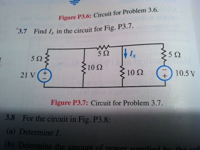Find Ix in the circuit for Fig- P3.7. Figure P3.7