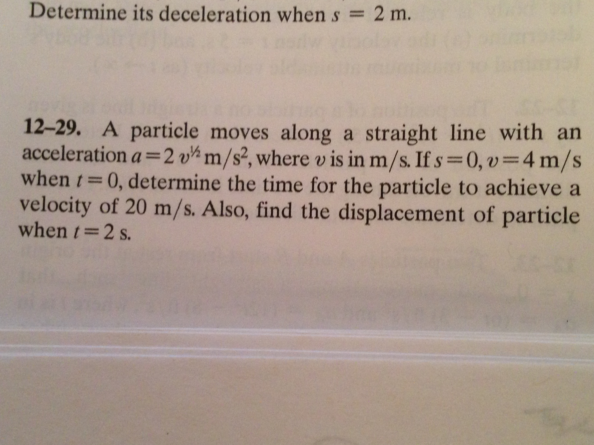 Determine its deceleration when s = 2 m. A partic