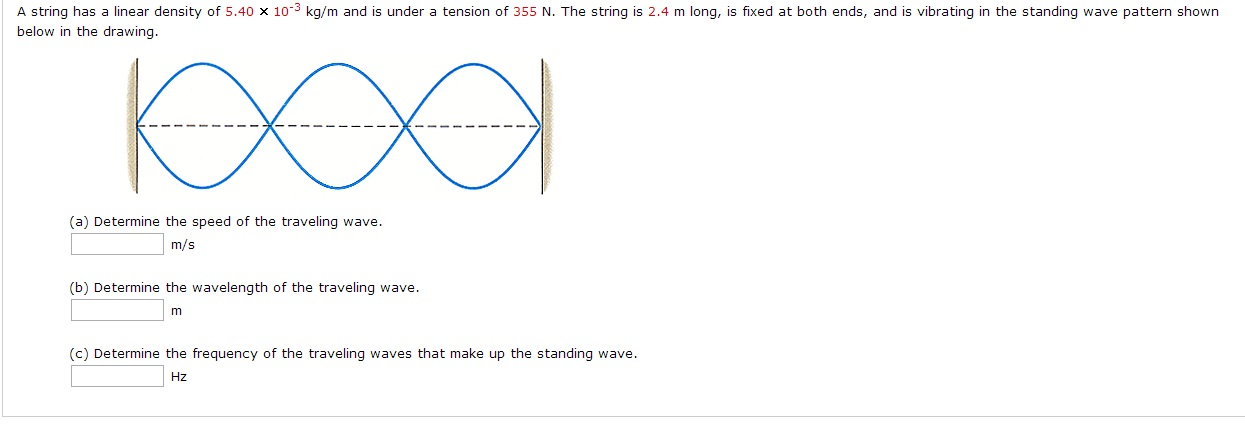 A string has a linear density of5.4010-3kg/m and i