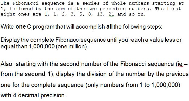 The Fibonacci sequence is a series of whole number