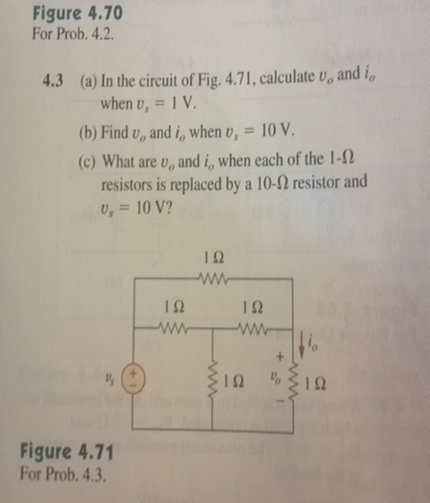 In the circuit of Fig. 4.71. calculate vo and io w