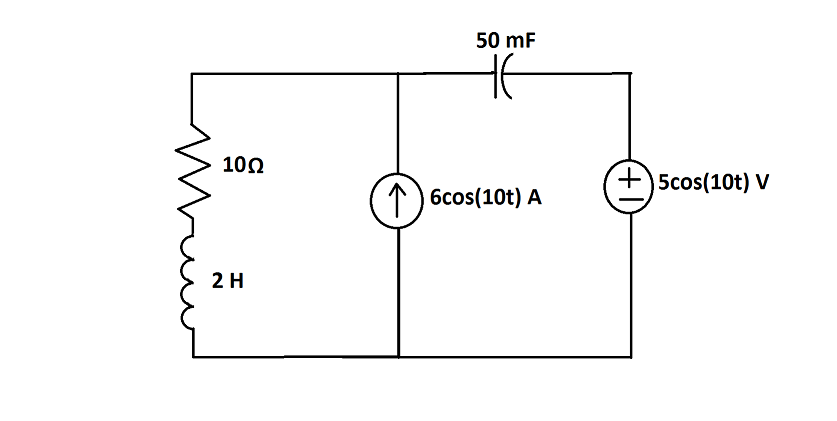 For the circuit, determine the complex power of th