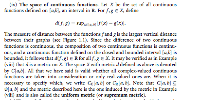 The space of continuous functions. Let X be the se