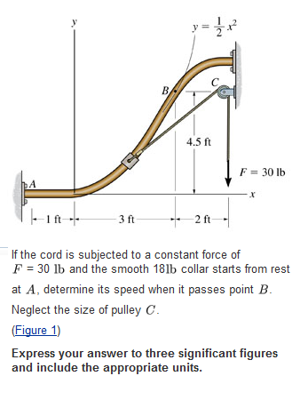 If the cord is subjected to a constant force of