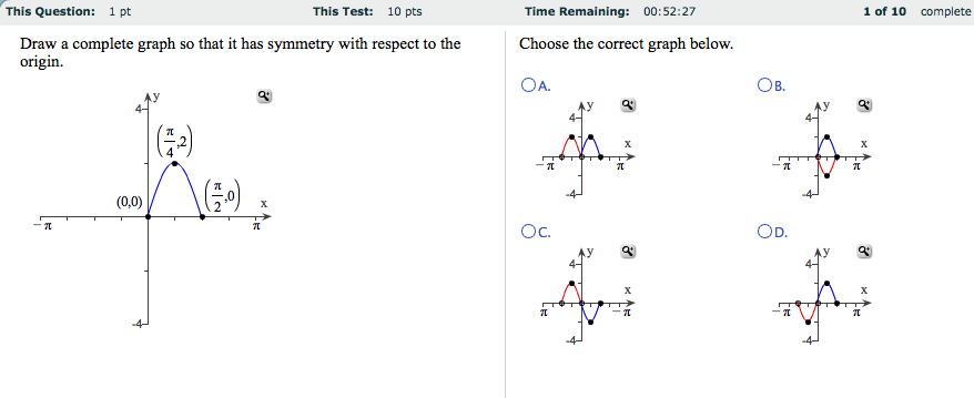 Draw a complete graph so that it has symmetry with