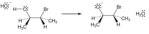 Bromohydrins are converted into epoxides when trea