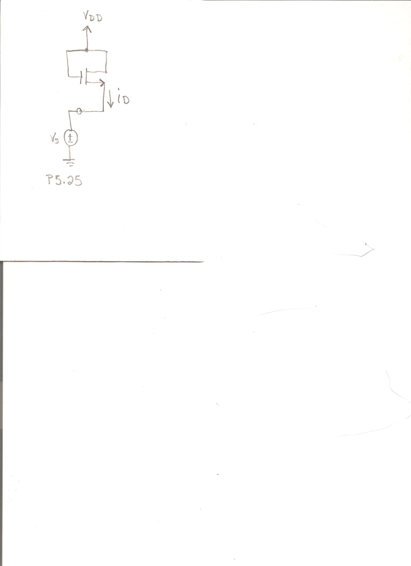 For the circuit attached in figure P5.25, sketch i