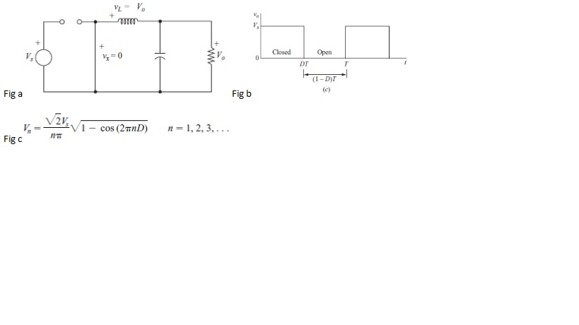 The voltage Vx in Fig a for the buck converter wit