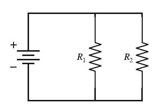 The circuit below has two resistors, with R1 >
