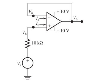 Find the output voltage, Vo, for the circuit shown