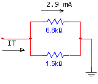 Find the IT in the below circuit.