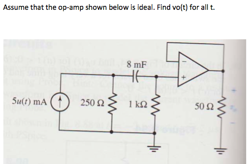 Assume that the op-amp shown below is ideal. Find