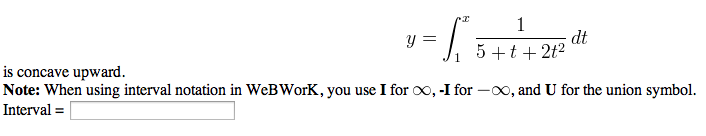 how to write interval notation in webwork
