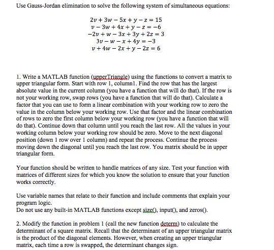 gaussian elimination method and gauss jordan method computer  gaussian elimination