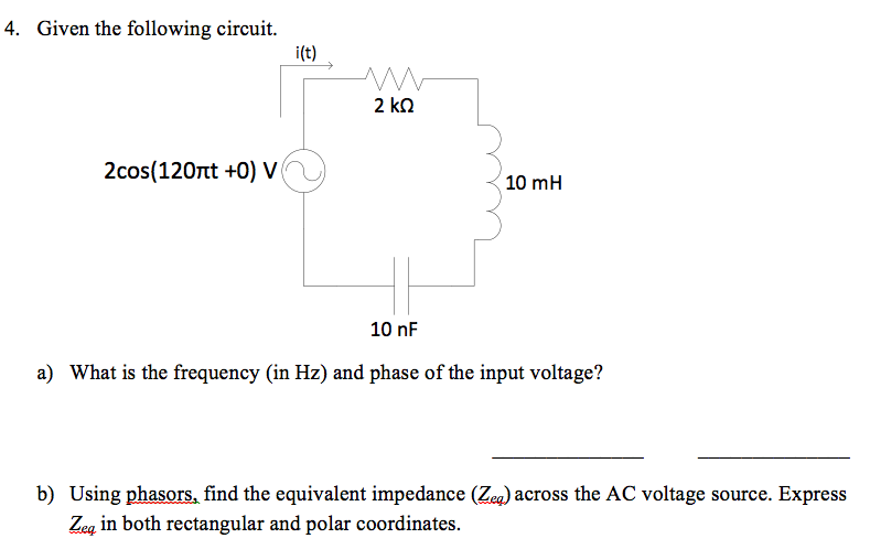 Given the following circuit. What is the frequenc