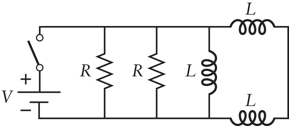 The circuit in the figure has two identical resist