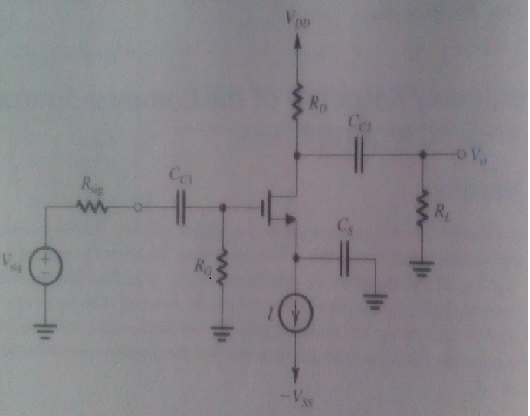 consider the amplifier of Fig. 9.2(a). let RD= 10