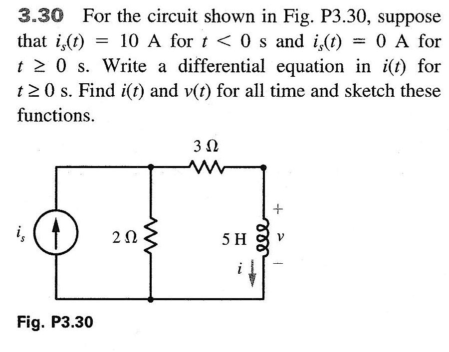 For the circuit shown in Fig. P3.30, suppose that