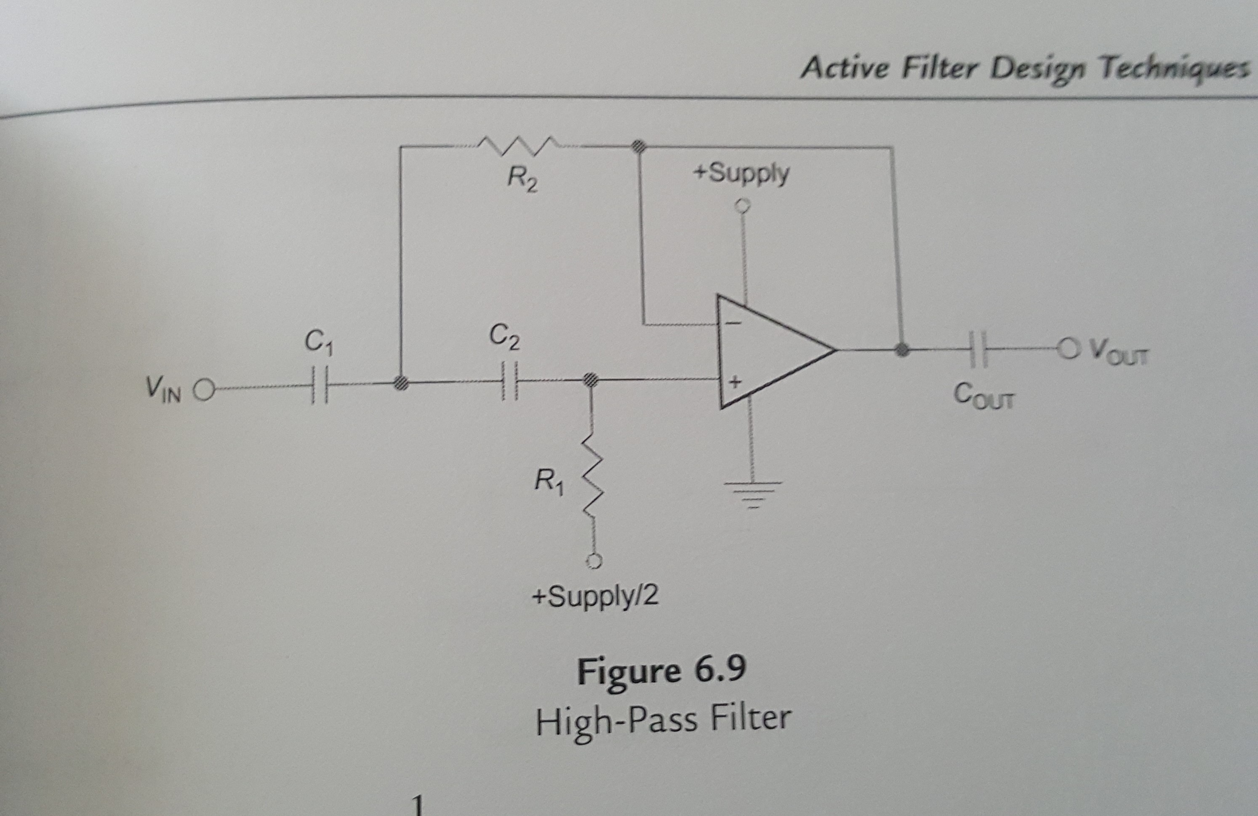 Solved 1 Using The Fast Practical Filter Design Techniq High Pass Diagram With Critical Frequency 10khz