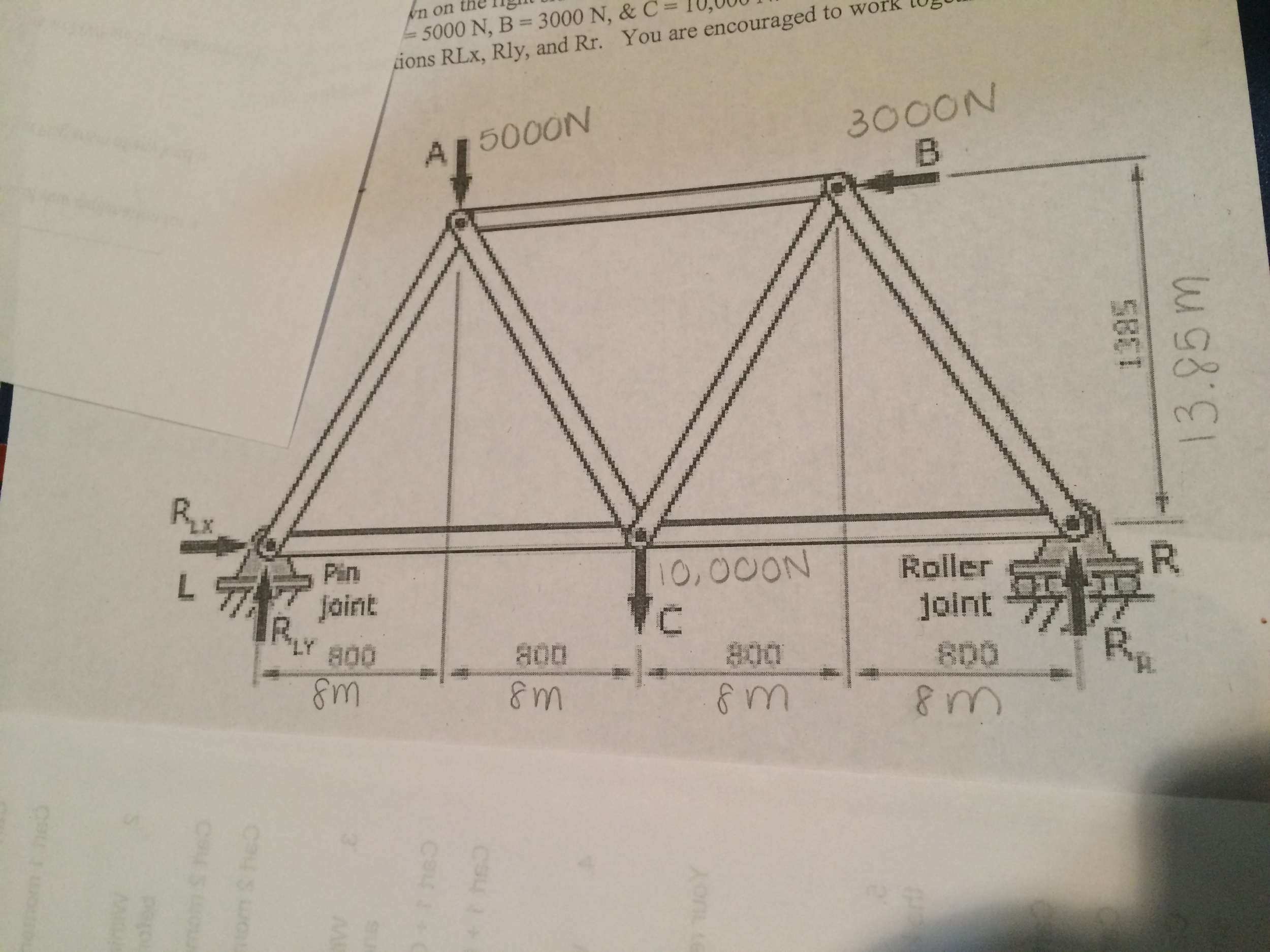 Bridge Free Body Diagram Manual Of Wiring Truss Solved The Sketch Is A With All Fo Rh Chegg Com