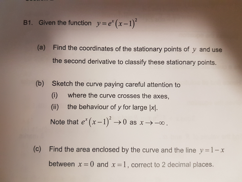 Given The Function Y Ex (x1 (a) Ind The