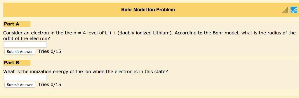 Solved Bohr Model Lon Problem Part A Consider An Electron
