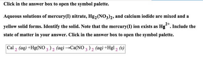 Solved Click In The Answer Box To Open The Symbol Palette