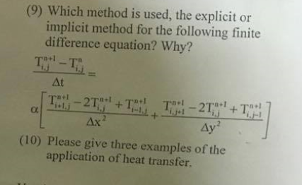 Solved: Which Method Is Used, The Explicit Or Implicit Met