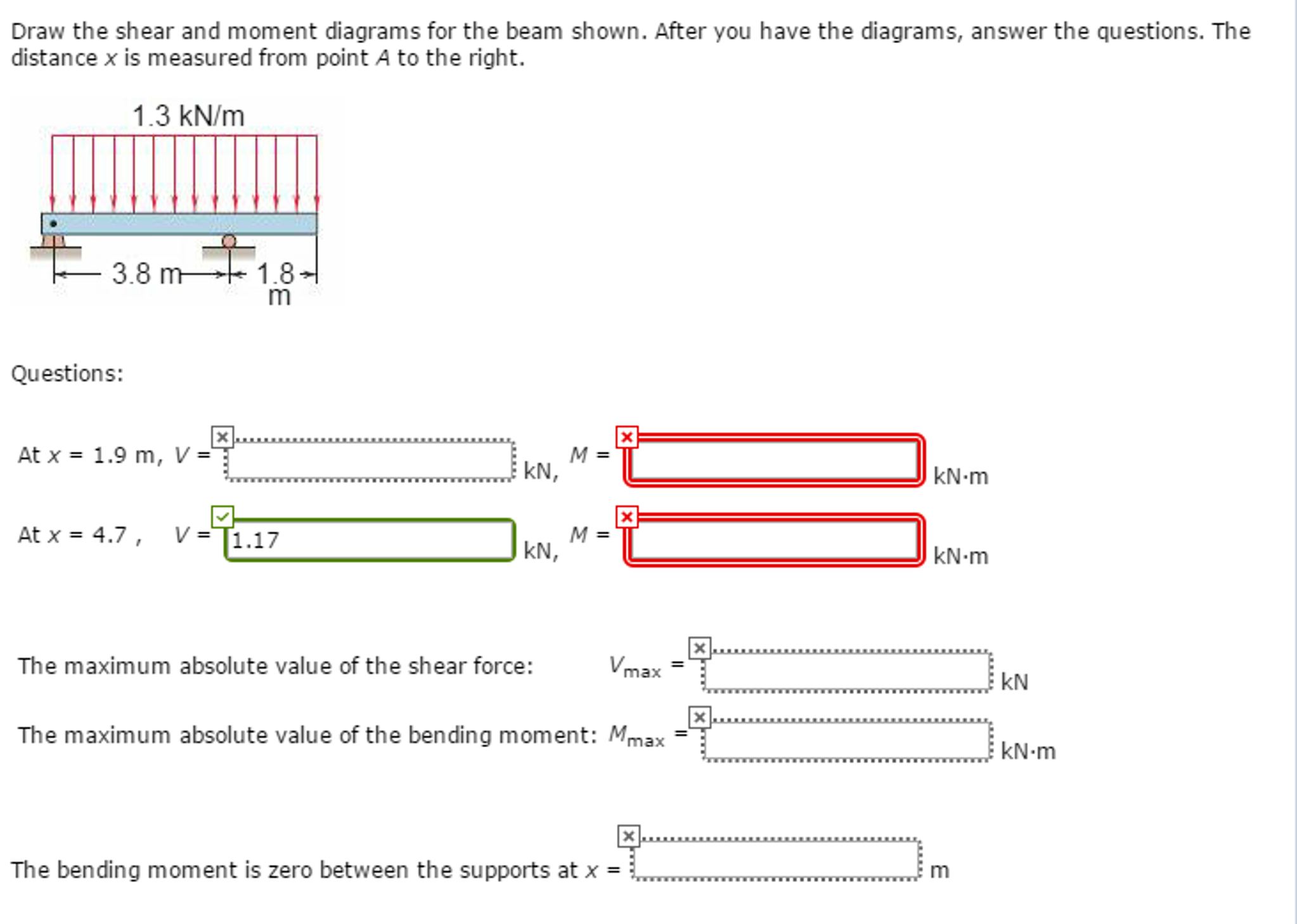 Solved Draw The Shear And Moment Diagrams For Beam Sh Bending Cheggcom