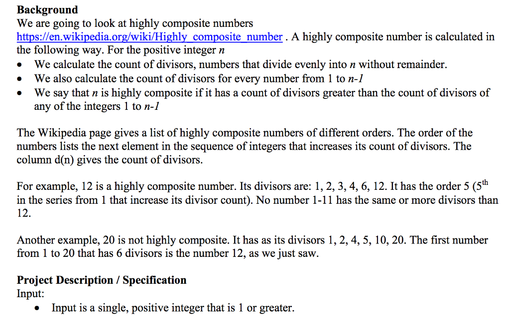 highly composite number