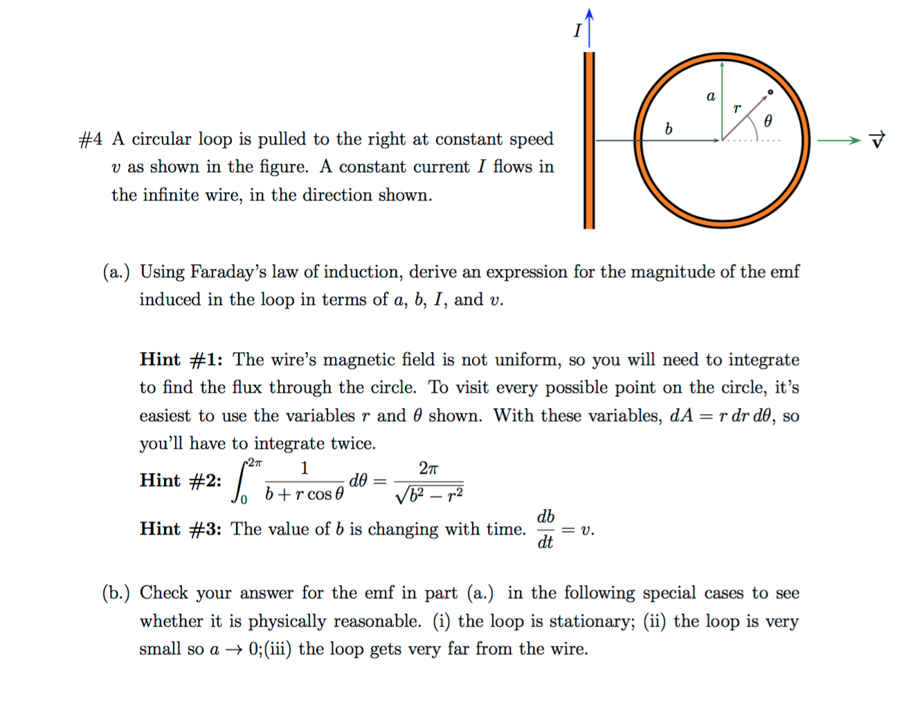 Solved: A Circular Loop Is Pulled To The Right At Constant