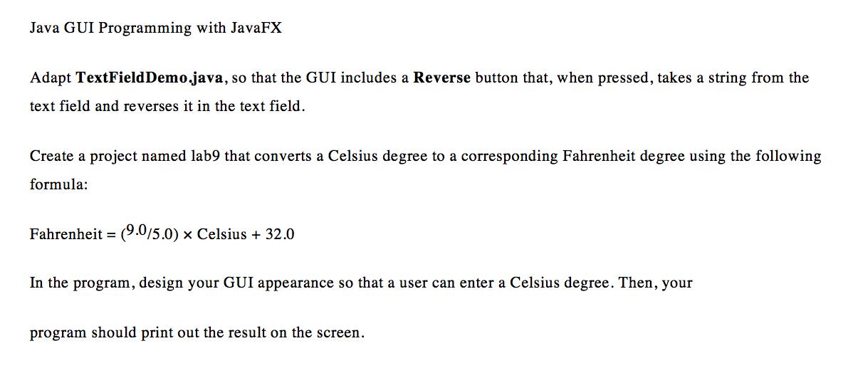 Solved: Java GUI Help    Import Javafx application *
