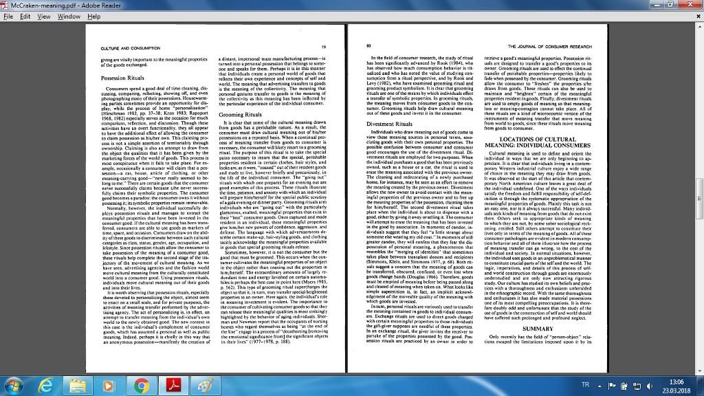 Mccraken Meaningpdf Adobe Reader File Edit View W Chegg